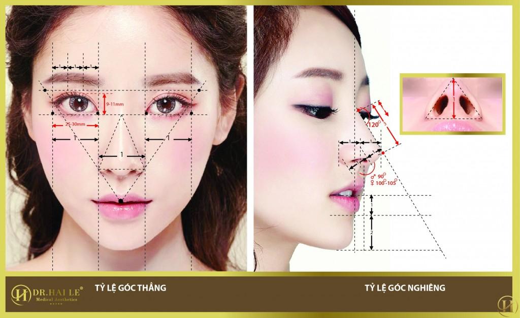 Mũi Demi -5D là dáng mũi đẹp hoàn hảo ở 5 góc độ