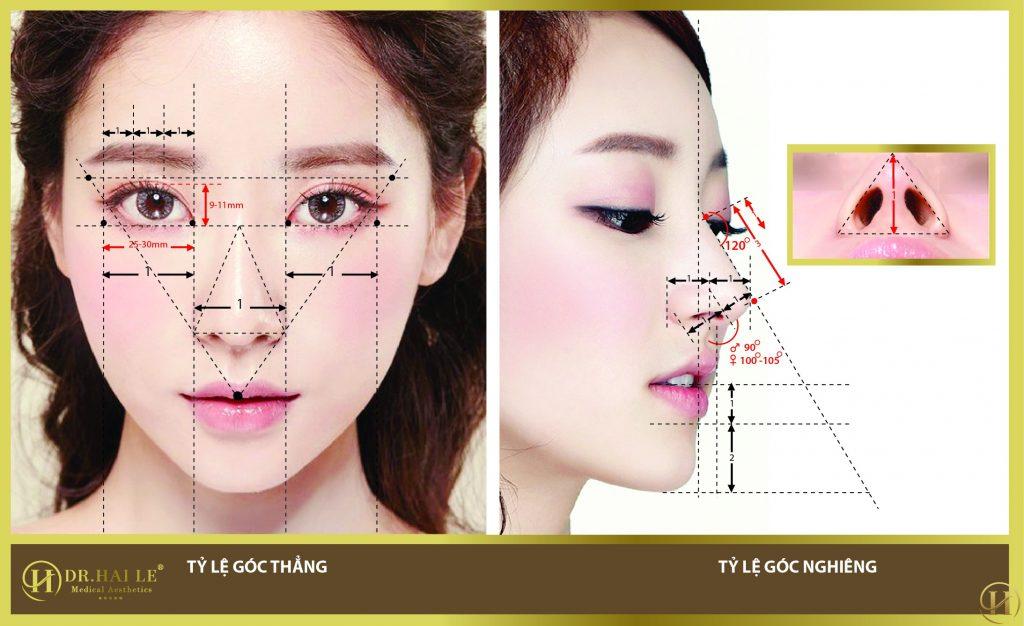 Tỷ lệ vàng nâng mũi Demi-5D đẹp mọi góc nhìn