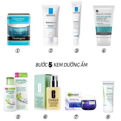 Các bước skincare cho da dầu mụn